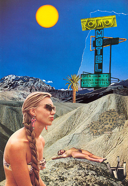 """Kosmos Motel"" - Collage de Philippe Lemaire © 1977-1990."